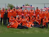 Tragkraftspritzenfahrzeug und Mannschaft der Löschgruppe Niesen