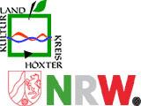 Logos und Wappen vom Kreis Höxter und vom Land Nordrhein-Westfalen